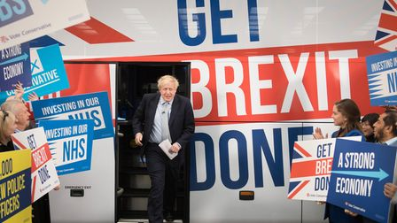 File photo dated 15/11/19 of Prime Minister Boris Johnson at the unveiling of the Conservative Party