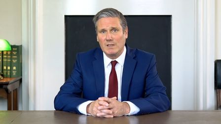 Keir Starmer during his last televised address.