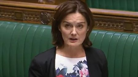 Lucy Allen MP speaking in the House of Commons