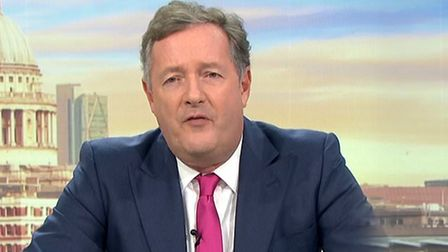 Piers Morgan appears on Good Morning Britain