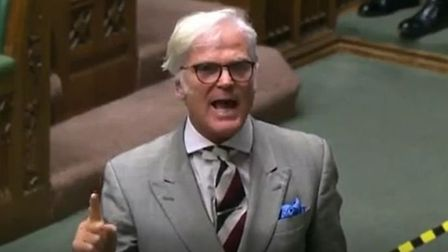 Tory MP Desmond Swayne in the House of Commons