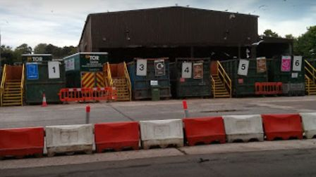 The Household Waste Recycling Centre at Tor Park Road, Paignton, has been closed