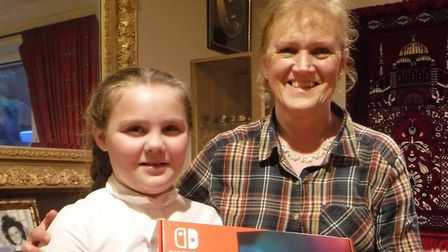 Anna-Lease receievd a Nintendo Switch from Sue Kray from Torbay Bikers for Kids