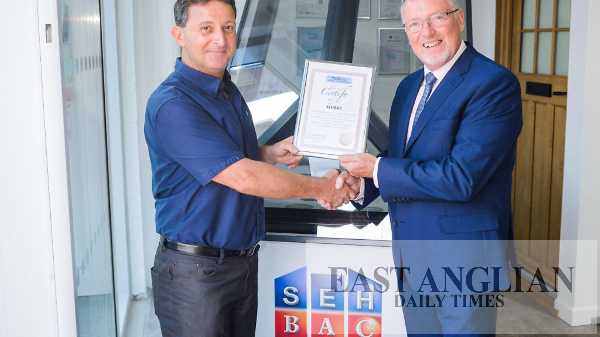 Customer Care Award Nomination For Seh Bac Windows And Home Improvements Company East Anglian Daily Times