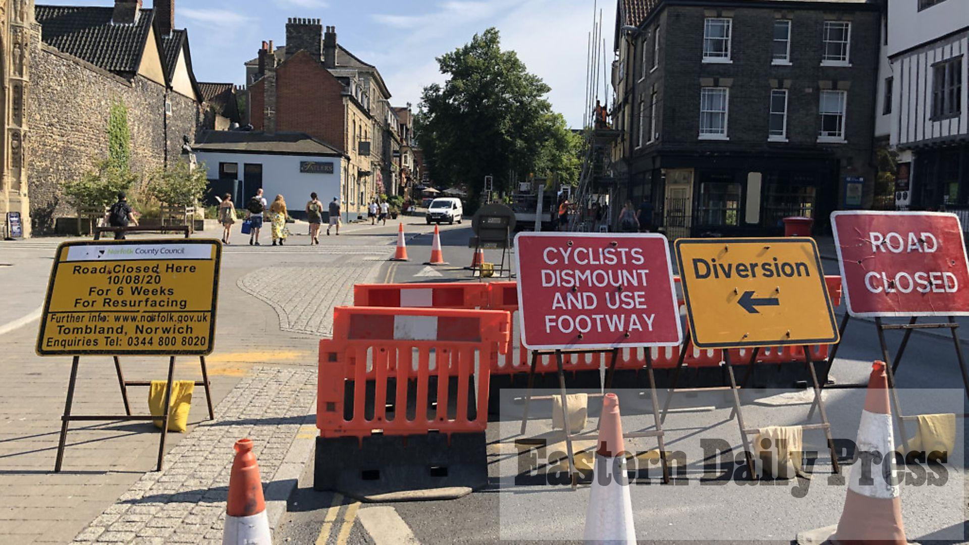 Tombland in Norwich to close for resurfacing