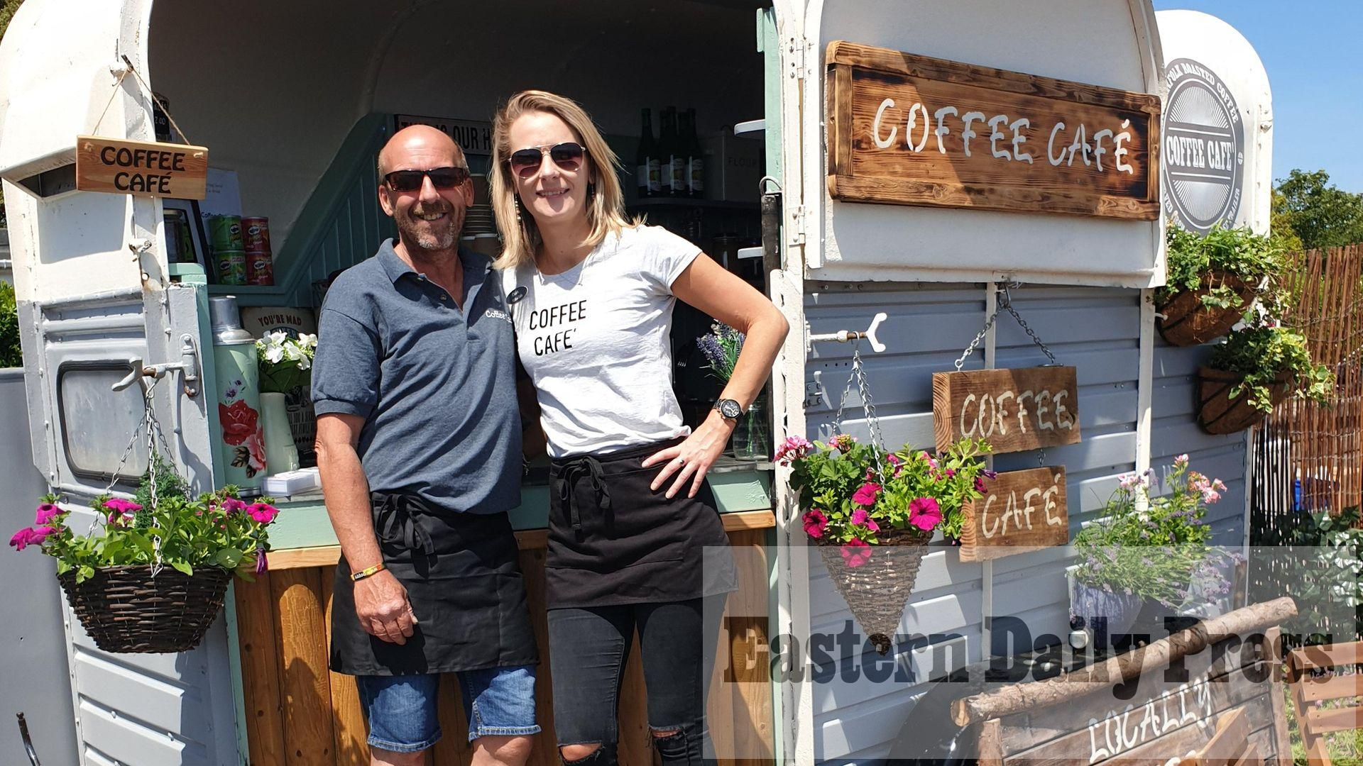 How mobile coffee cafe built in vintage horse trailer survived pandemic