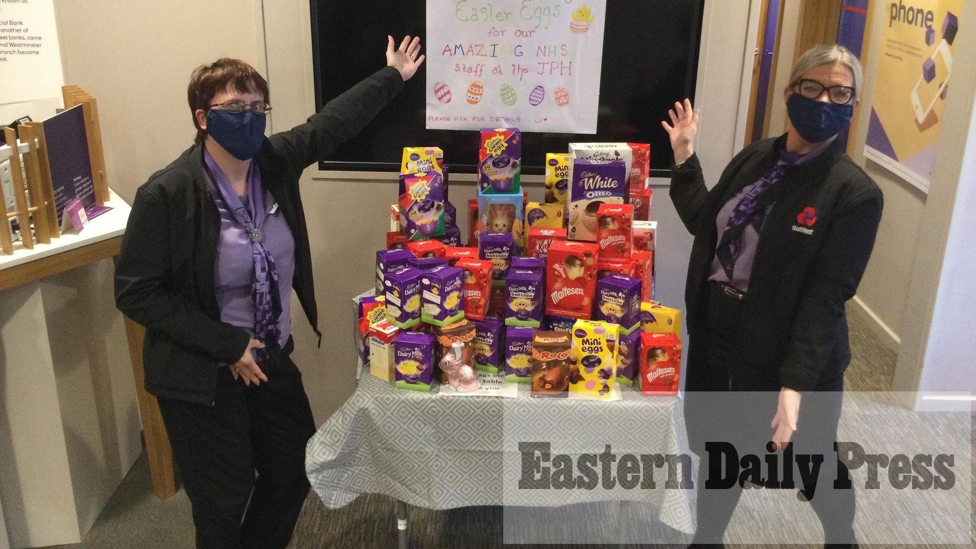 Banks collecting Easter eggs for NHS staff