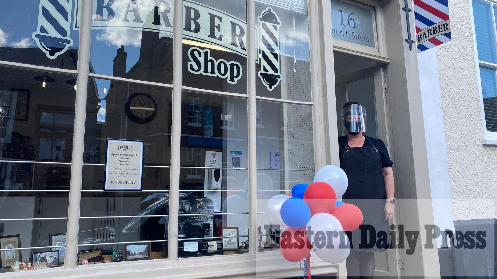 Barber fulfils dream of 34 years by opening hometown shop